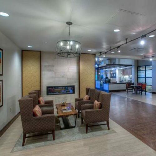 BV Tucson Lobby Fireplace
