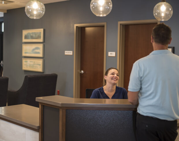 Frontdesk at Buena Vista Health and Recovery Centers